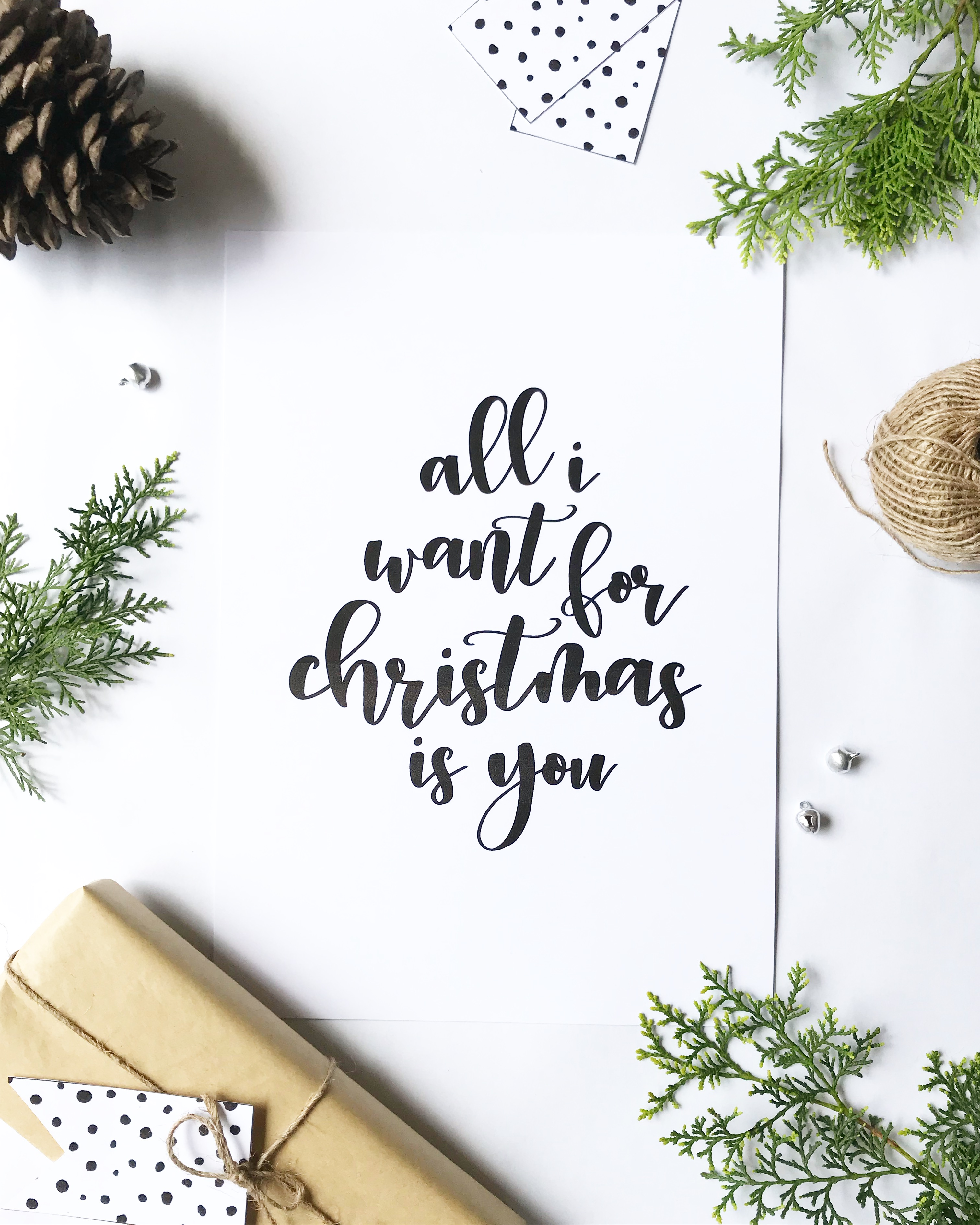 All I Want For Christmas - Print & Post - Averly Saint